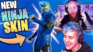 I GOT NINJA'S FORTNITE SKIN EARLY!! EXCLUSIVE GAMEPLAY Ft. Ninja & Reverse2k #Ninjaskin