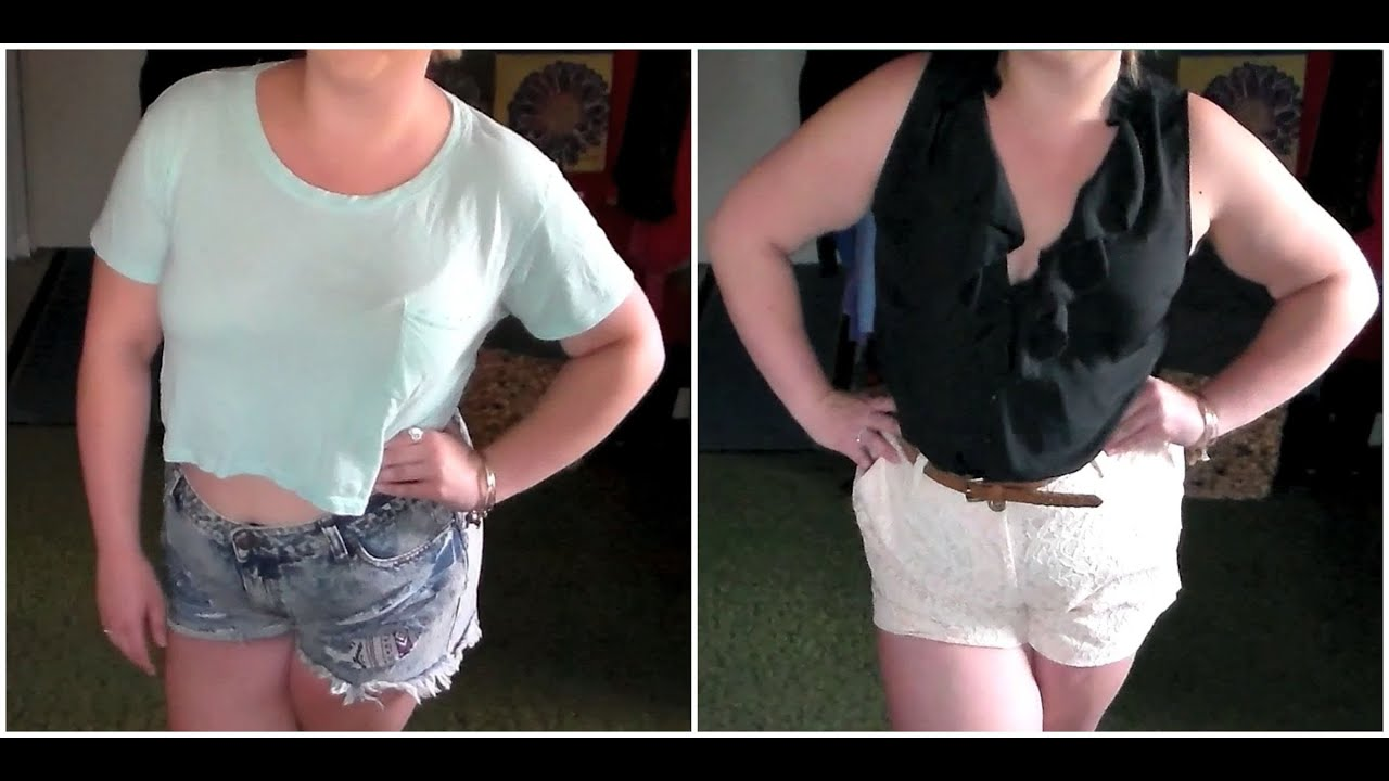 FFF2 | Plus Size High Waisted Shorts - YouTube
