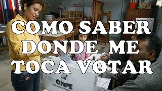 Donde Me Toca Votar Como Saber Donde Votar Como Saber Donde Me Toca Votar Onpe