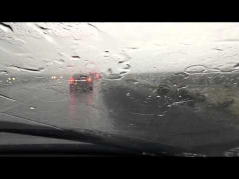 Crazy hailstorm and rain outside of Las Vegas 10/18/15