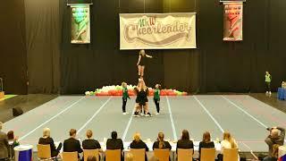 "Bielefeld Wildcats ""Black Cats"" U17 All Girl Group Stunt CLM NRW 2018"