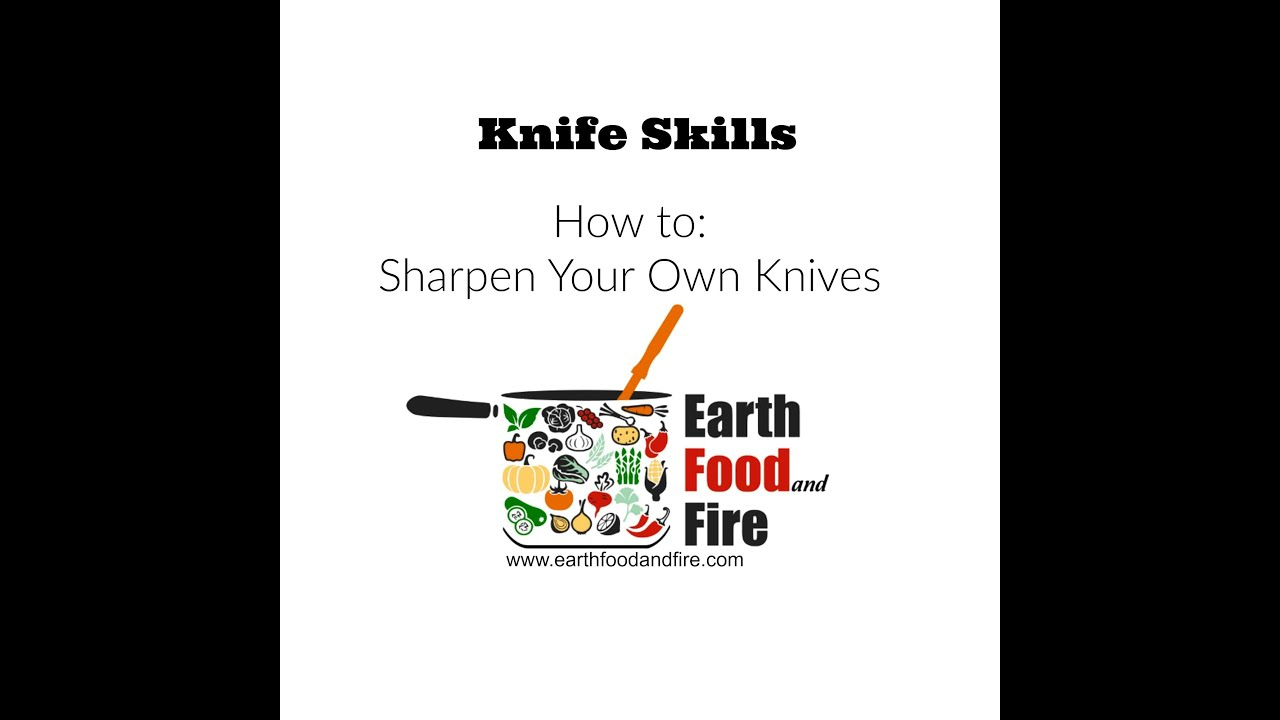 How to Sharpen Kitchen Knives - Tutorial - YouTube