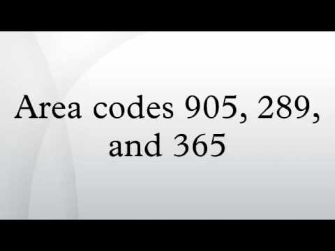Area codes 905, 289, and 365