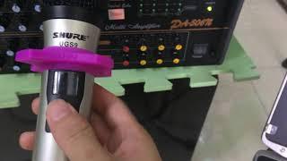 Mic shure UGS 9  Thử mic tại Đỗ Tiến Store  mic chống hú cực tốt - 01699 444 909