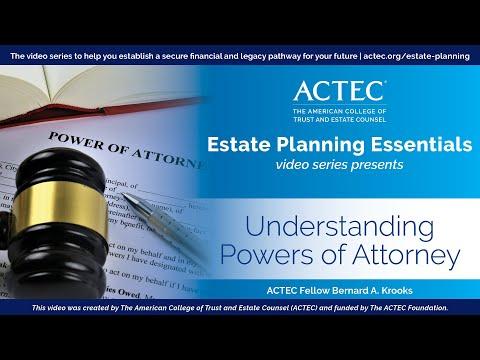 Understanding Powers of Attorney - Bernard Krooks J.D., CPA, LLM (in taxation), ACTEC Fellow