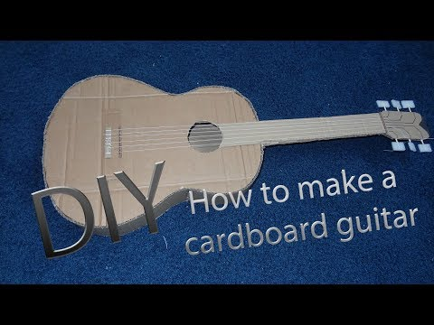 DIY How to make a cardboard guitar