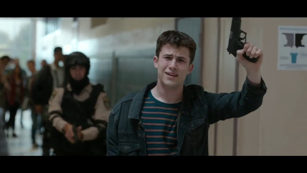 Download Clay freaks out at school shooting simulation | 13 Reasons Why, season 4.