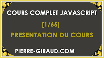 Cours complet JavaScript - Tutoriel / Formation pour tous