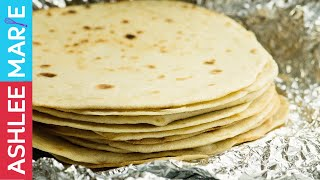 How to make Homemade Flour Tortillas - Mexican Food - Simple Recipe