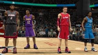 NBA 2K13 | Dunk Contest (Lebron,Howard,Griffin,Durant)