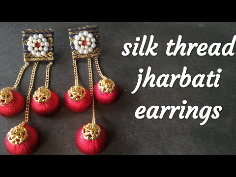 DIY Silk thread jharbati/chandbali earrings