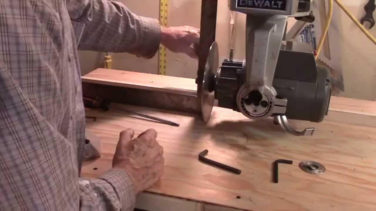 Dewalt 790 Radial Arm Saw Arm And Blade Adjustments Youtube