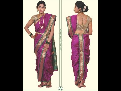 Easy Readymade Peshwai saree cutting stitching