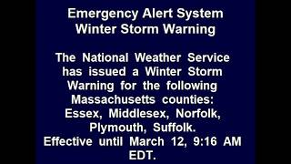 Winter Storm Warning: Boston, MA || 3-12-18