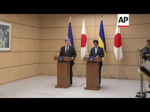 Poroshenko meets Abe in Tokyo