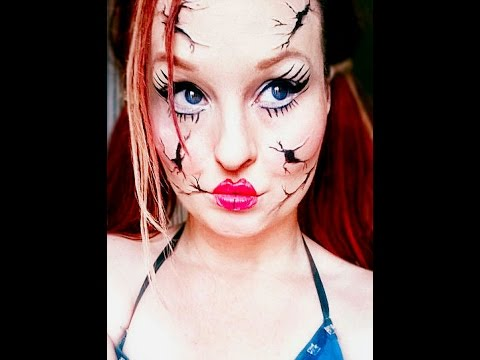 broken doll makeup easy makeup look  youtube