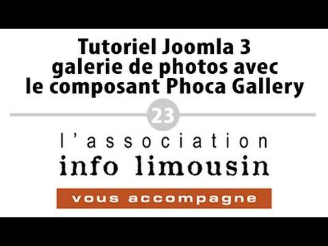 Tutoriel Joomla 3 - galerie de photos avec le composant Phoca Gallery