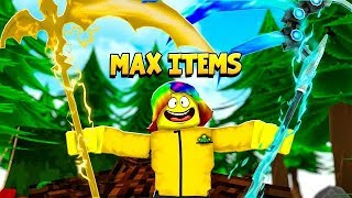 I used a MAX ITEM GAMEPASS and I Couldn't believe how STRONG I got.. (Roblox Treasure Quest)