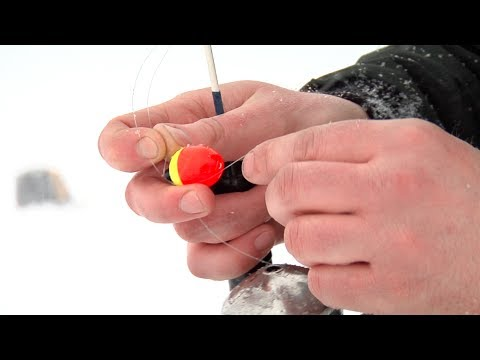 Ice Fishing - Setting Up A Line