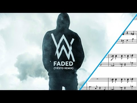 Faded SHEET MUSIC { Violin and Saxophone Duet}