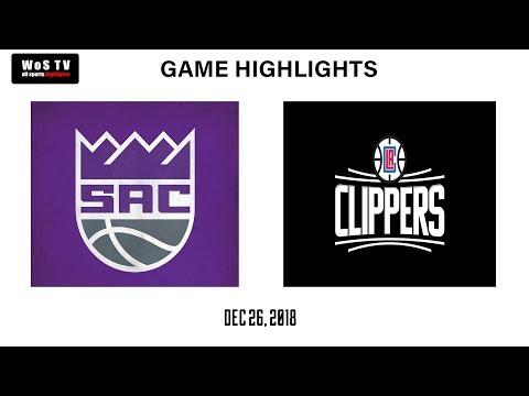 NBA Sacramento Kings vs Los Angeles Clippers | December 26, 2018