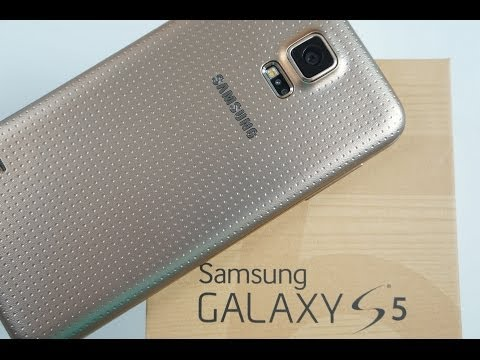 GOLD Samsung Galaxy S5 UNBOXING And Review