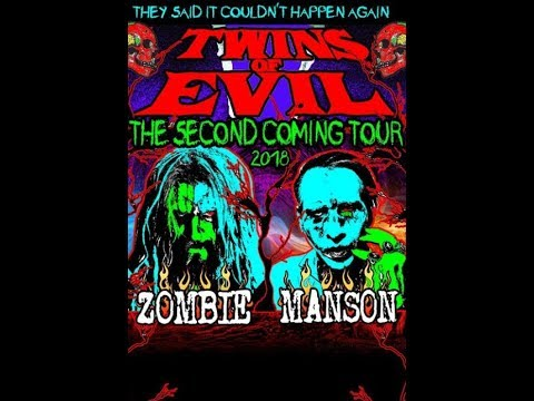 Rob Zombie and Marilyn Manson 2018 tour 'Twins Of Evil: The Second Coming Tour'!