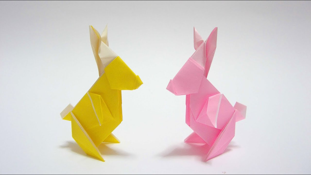 origami bunny basket instructions