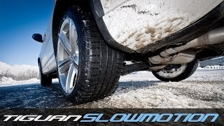 VW Tiguan 4Motion TEST HALDEX SNOW SlowMotion: 177 CV DSG Winter Tyres
