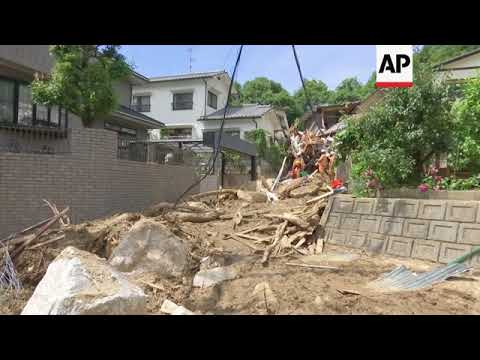 Rescue workers search for survivors after Japan floods