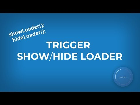 Trigger Show/Hide Loader, Functions and Events in jQuery thumbnail
