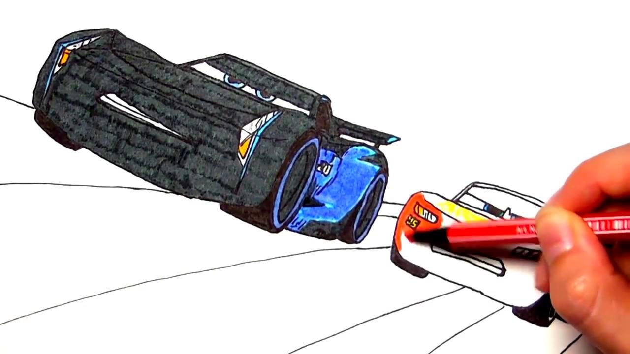 Drawing And Coloring Cars 3 Lightning Mcqueen şimşek Mcqueen