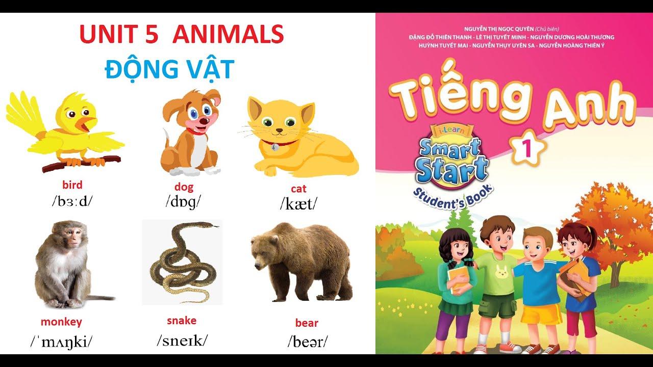 [TIẾNG ANH LỚP 1] Unit 5: Animals | Động vật | TỪ VỰNG VÀ MẪU CÂU | I - Learn Smart Start 1