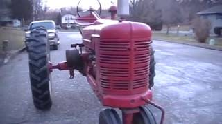 Cold Start And Drive Of The 1944 Farmall H