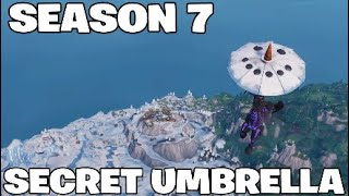 *SECRET* HOW TO GET NEW SNOWMAN UMBRELLA !! SEASON 7 Fortnite Battle Royale