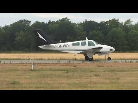 Beechcraft Baron 55 Take off HD