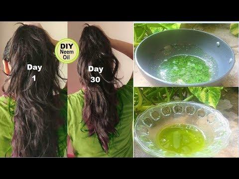 Homemade Neem Hair Oil For Hair Growth, Grow Long Hair With Neem Oil, For Dandruff, Head Lice