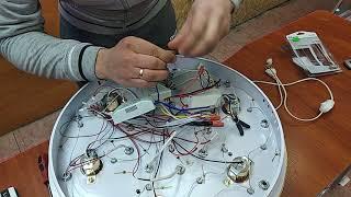 Ремонт LED люстры тортик Замена пульта Замена блока с пультом управления