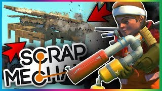 BATTLE AÉRIENNE POTATO GUN 3.0 !!! - SCRAP MECHANIC FR