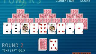 Hoyle Card Games 2002: Solitaire (Arcade) - 3 Towers