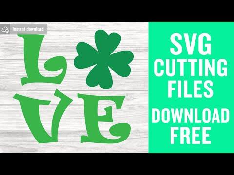 Download Shamrock love svg free, st patricks day svg, shamrock svg ...