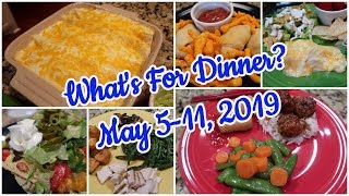 What's For Dinner?  May 5-11, 2019 | Cooking for Two | Easy Meal Ideas