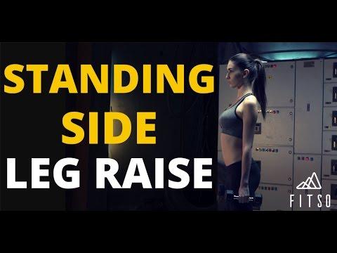 How To Do Standing Side Leg Raise - Right Leg?
