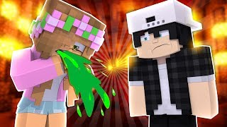 LITTLE KELLY PUKES ON A DATE WITH RAVEN! Minecraft Double Date w/LittleCarlyandLeo (CustomRoleplay)