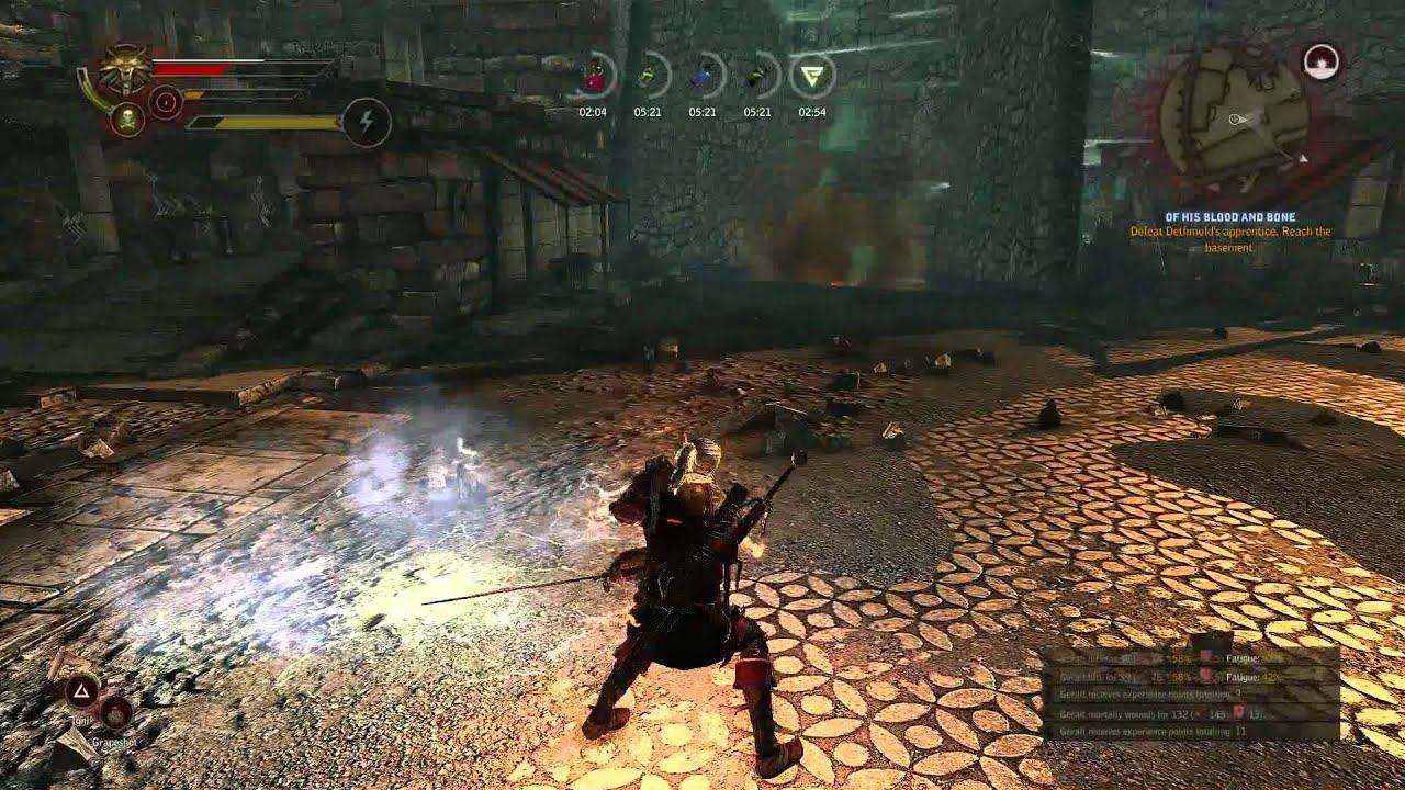 The Witcher 2 High Level Mage Gameplay Of His Blood And Bone Quest Youtube