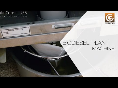 The Biodiesel Plant For Fuel Production Of Used  Fats