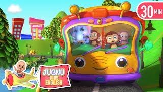 Wheels On The Bus   baby shark   +best Nursery Rhymes & Kids Songs by Jugnu kids