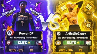 99 OVERALL SHOTCREATING SHARPSHOOTER VS POWER DF.. THE RAREST BEST 99 OVERALL BUILD IN THE GAME?