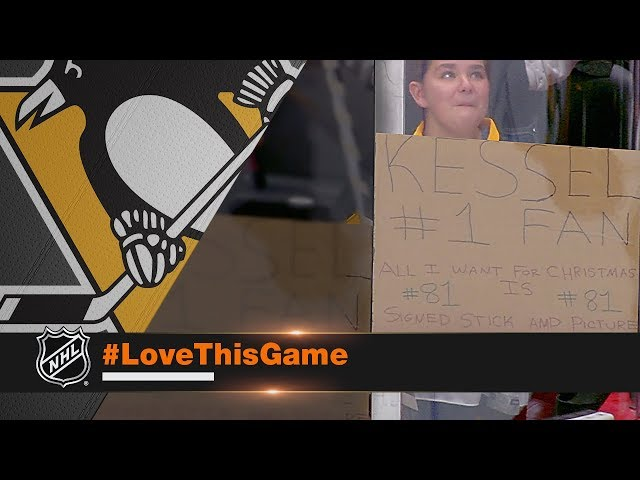 Phil Kessel fulfills young girl's Christmas wish with autographed stick