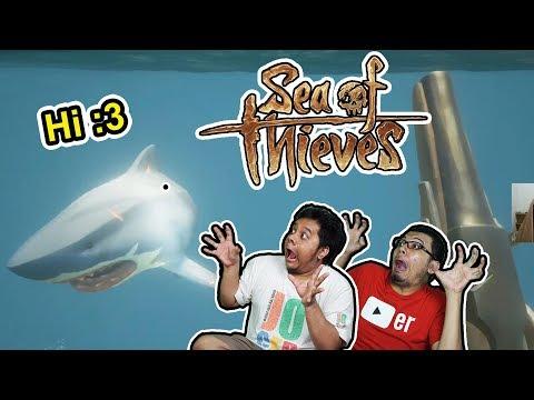 DUO PEROMPAK DOGOL DI TERKAM HIU! - SEA OF THIEVES WITH BANG TARA
